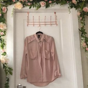 Light Pink Button-Up Shirt